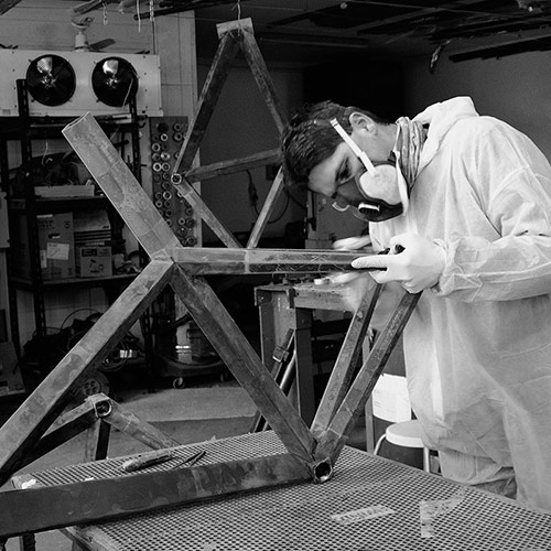 Producing the B-9 NH frame by Brano Meres